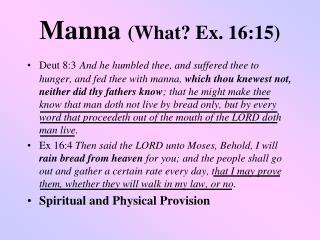 Manna What Ex. 16:15
