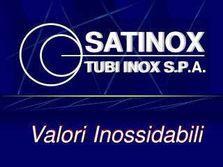TUBI INOX S.P.A.