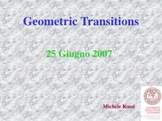 Geometric Transitions