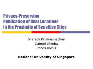Privacy-Preserving  Publication of User Locations  in the Proximity of Sensitive Sites