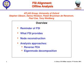FSI Alignment:  Offline Analysis