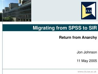 Migrating from SPSS to SIR
