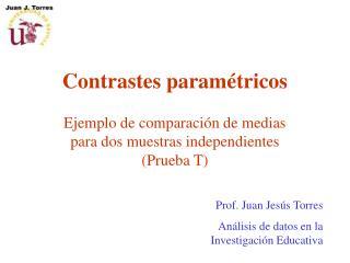 Contrastes paramétricos