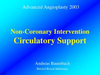 Non-Coronary Intervention Circulatory Support