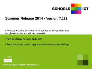 Summer Release 2014 -  Version: 7.158