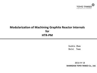 Modularization of Machining Graphite Reactor Internals for  HTR -PM