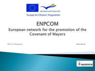 ENPCOM European  network  for  the promotion  of  the  Covenant of Mayors