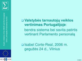 Va lstybės tarnautojų veiklos vertinimas Portugalijoje :
