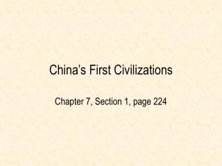 China s First Civilizations