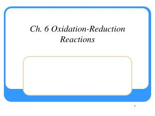 Ch 6. Energy and Chemical Change
