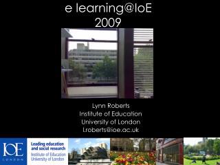 e learning@IoE 2009