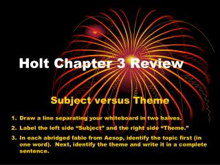 Holt Chapter 3 Review