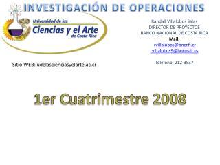 Randall Villalobos Salas DIRECTOR DE PROYECTOS BANCO NACIONAL DE COSTA RICA Mail: