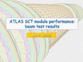 ATLAS SCT module performance: beam test results