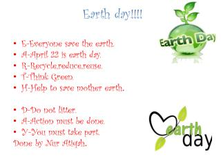 Earth day!!!!