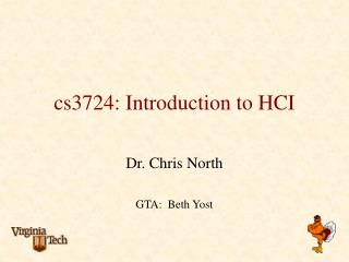 cs3724: Introduction to HCI