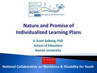 Nature and Promise of  Individualized  Learning  Plans
