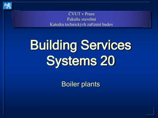 Building Services Systems 20