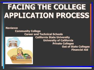 FACING THE COLLEGE APPLICATION PROCESS