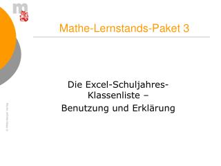 Mathe-Lernstands-Paket 3