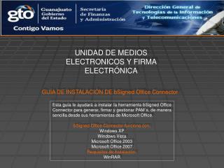 UNIDAD DE MEDIOS ELECTRONICOS Y FIRMA ELECTRÓNICA