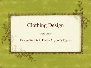 Clothing Design
