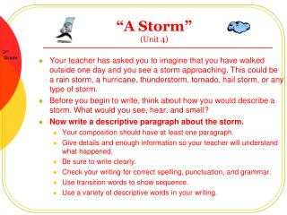 A Storm   Unit 4
