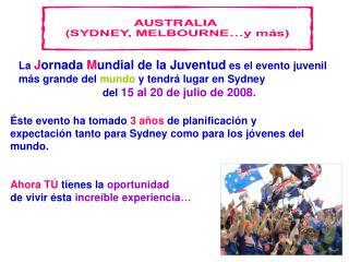 La  J ornada  M undial de la  J uventud se ha celebrado en: