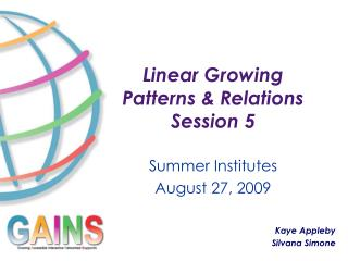 Linear Growing Patterns & Relations Session 5