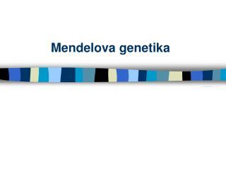 Mendelova genetika