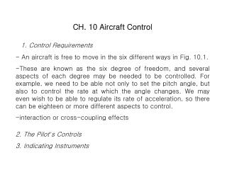 1. Control Requirements