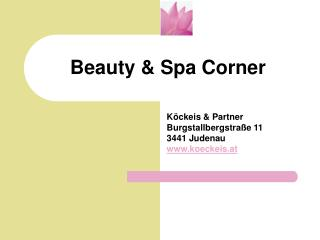 Beauty & Spa Corner