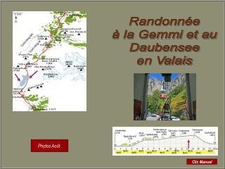 Randonnée à la Gemmi et au Daubensee en Valais