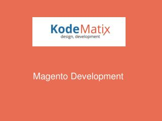 Fundamentals Of Magento Development