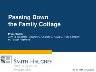 Passing Down the Family Cottage