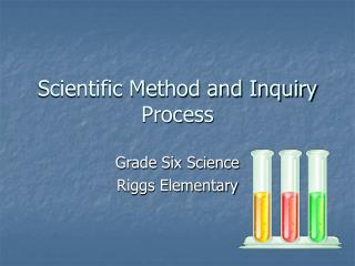 Scientific Method and Inquiry Process