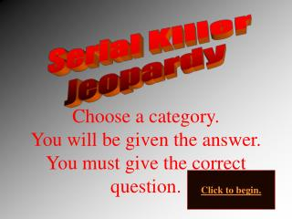 Serial Killer Jeopardy