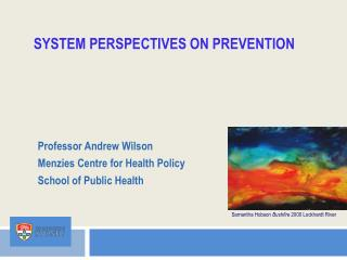 System Perspectives on Prevention