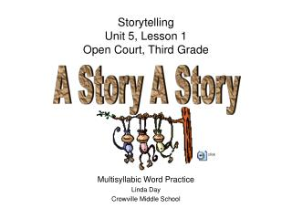 Storytelling Unit 5, Lesson 1 Open Court, Third Grade
