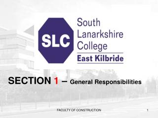 SECTION  1  –  General Responsibilities