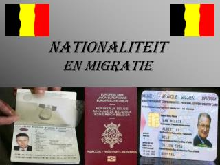 NATIONALITEIT  EN MIGRATIE