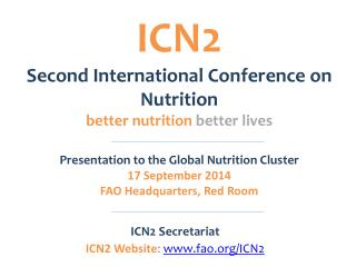ICN2 Second International Conference on Nutrition  better nutrition  better lives