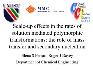 Scale-up effects in the rates of solution mediated polymorphic transformations: the role of mass transfer and secondary