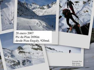 28 enero 2007 Pic du Piau 2696m desde Piau-Engaly, 920md.