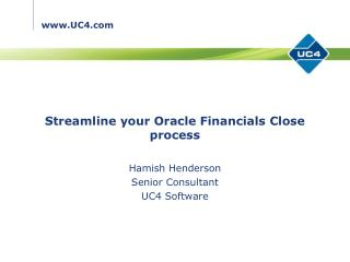 Streamline your Oracle Financials Close process