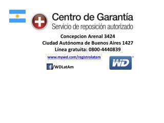 Concepcion  Arenal  3424 Ciudad  Autónoma  de Buenos  Aires 1427 Línea gratuita :  0800-4440839