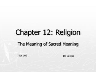 Chapter 12: Religion