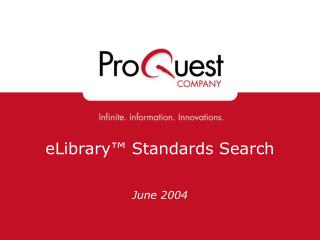eLibrary™ Standards Search