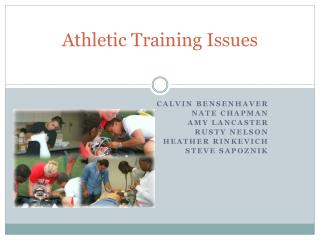 Athletic Training Issues