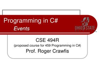 Programming in C# Events